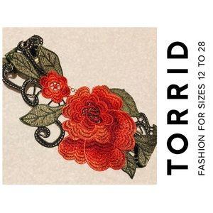 Torrid Floral Embroidered Choker